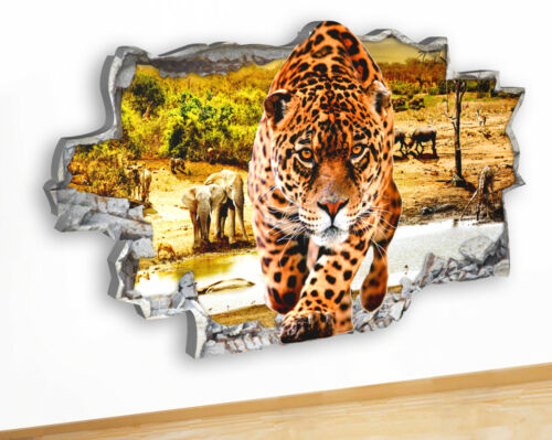 Q736 Cheetah Cool Animal Bedroom Canvas Picture Poster Wall Art 3d Stickers room