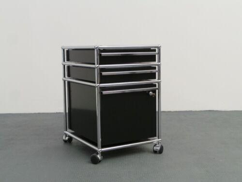 Usm Haller Rollcontainer schwarz 3 x Auszug 1 x Schloss
