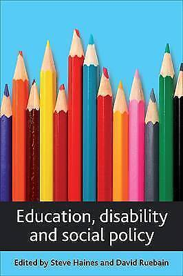 1 of 1 - Education, Disability and Social Policy, Very Good Condition Book, , ISBN 978184