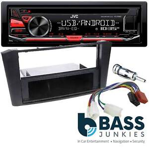 toyota avensis t25 jvc cd mp3 usb aux car stereo radio fascia panel rh ebay co uk