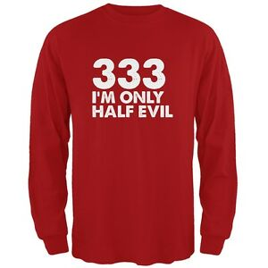 Halloween 333 Half Evil Red Adult Long Sleeve T-Shirt