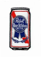 Pabst Blue Ribbon Beer Embroidered Jacket Vest 4 Inch Iron On Patch