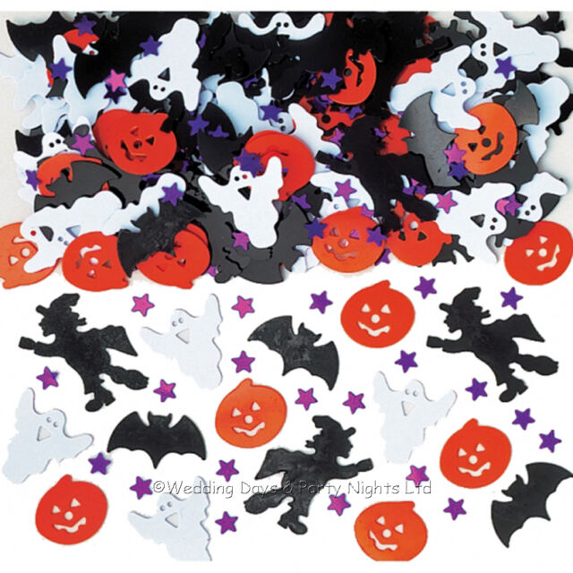 10 Bags Halloween Table Confetti Pumpkin Ghost Witch Party Sprinkles Decorations