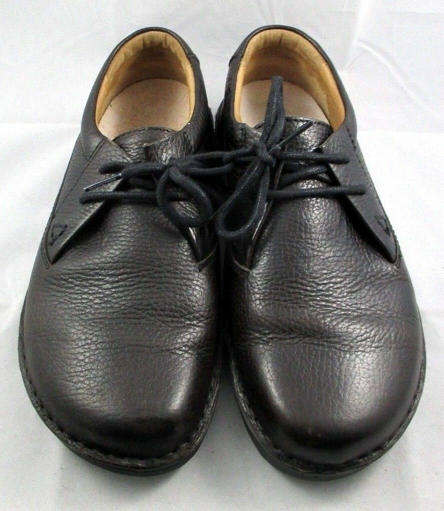 BIRKENSTOCK Memphis Black Pebbled Leather Lace-Up Loafer SIZE 6 Mens / 8 Women's