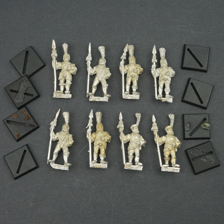 Warhammer Fantasy Empire Milita Spearmen - State Troops Metal Spears Lot x8 U1