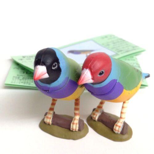 Choco Egg Mini Figure Bird Gouldian Finch 2pcs Red /& Black Kaiyodo Japan