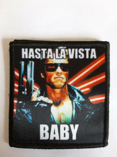 """Terminator Arnie Army Airsoft 3/"""" Sublimation Hook backed Patch Badge Military"""