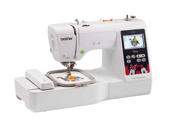 "Brother PE4000D PE 4000 D 400""x400"" Embroidery Machine With Builtin Stunning Brother Disney Sewing Machine"