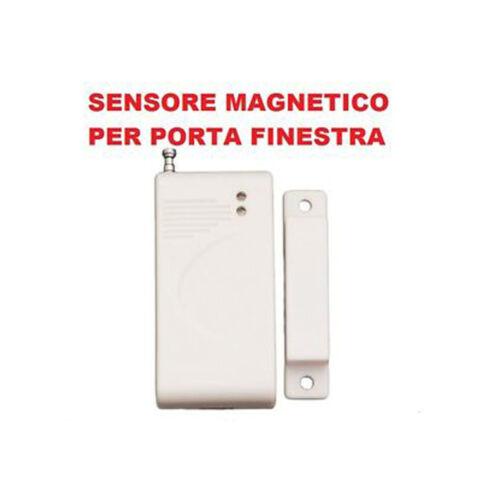 SENSORE MAGNETICO PORTE E FINESTRE WIRELESS ALLARME ANTIFURTO CASA UFFICIO 433