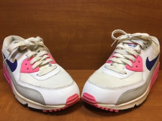 Nike AIR MAX 90 Essential WhiteConcordGreyPink 616730 104 Women's Size 10