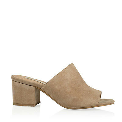 New Billini Womens Shoes Tori Stone Suede Heels Mules