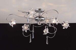 Plafoniere In Cristallo A Soffitto : Lampadario moderno lampada da soffitto luci plafoniera acciaio