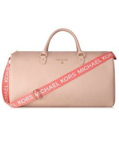Details About Michael Kors Blush Pink Weekender Bag Large Travel Overnight Gym Duffle