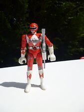 🍓 Ancienne Figurine Power Rangers Rouge Année 1991 En Métal