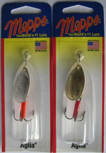 Mepps  Aglia Spinner Silver /& Gold 2 1//4 oz.