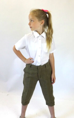 "Tweed PLUS zampe Kids NUOVO Heritage Verde Pantaloni Elastico in Vita 24/"" 26/"" 28/"""