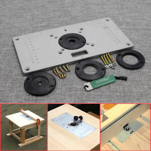 Uk aluminum router table insert plate 235 x 120 x 8mm with ring for image is loading uk aluminum router table insert plate 235 x greentooth