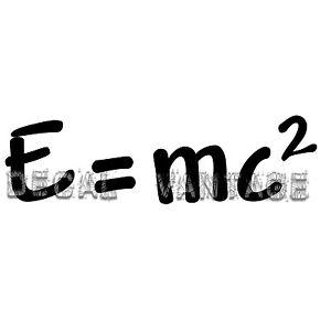 E-mc2-Vinyl-Sticker-Decal-Einstein-Geek-Nerd-Relativity-Choose-Size-amp-Color