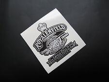 ROYAL ENFIELD GUN Black Background sticker/decal x1