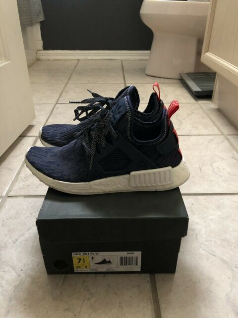 newest collection ef56f a24b8 adidas NMD Xr1 PK Glitch Unity Navy Blue Red Bb3685 Women's Size 7