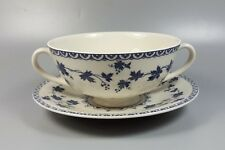 ROYAL DOULTON YORKTOWN (RIBBED) TC1013 CREAM SOUP COUPE / CUP AND SAUCER
