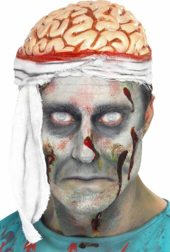 Men/'s Bandage Brain Open Flesh Hat Zombie Halloween Fancy Dress Cap Stag Fun