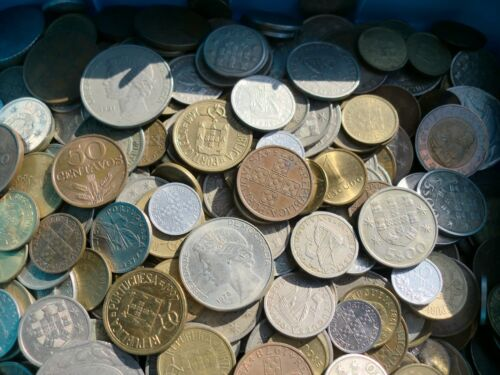 1,5 KILOS of Portuguese coins Escudos Pré Euro JOB LOT