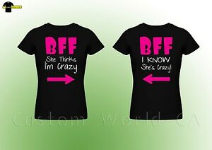 4009a2bfc1 Couple Tee - BFF - Best Female Friend - Couple Matching T Shirt Best ...
