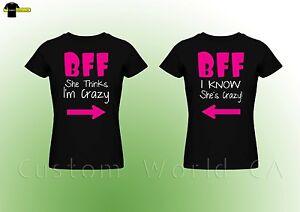 42dd9533da Couple Tee - BFF - Best Female Friend - Couple Matching T Shirt Best ...
