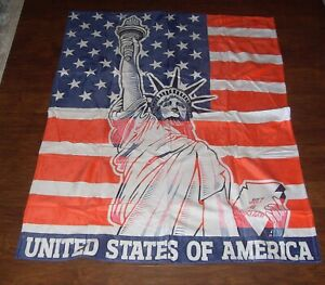 """Loong Design 50"""" x 60"""" American Flag Throw Blanket Super Soft - NEW!"""