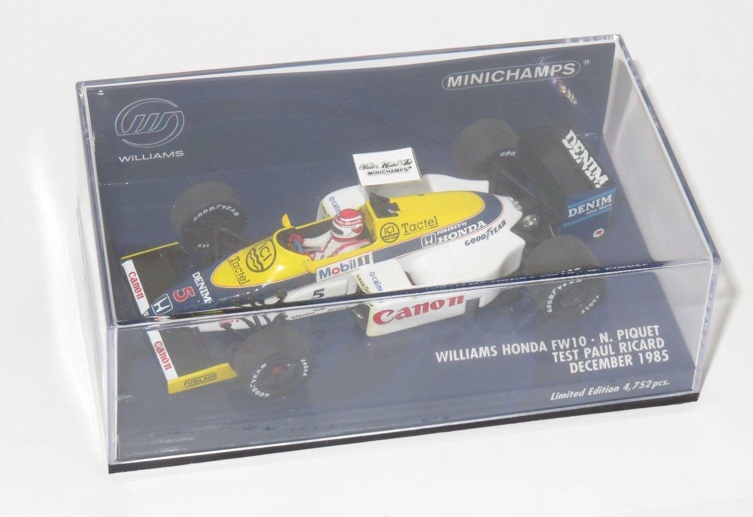 1 43 WILLIAMS HONDA FW10 Paul Ricard Test 1985 Nelson Piquet