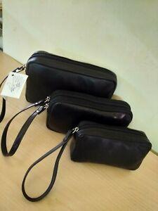 pochette borsello a mano uomo vera pelle manichetto da polso con incisione nome