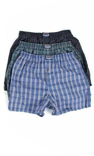 3 Pack Mens Boxer Shorts Large Woven Cotton Rich Classic Plaid Check Underwear