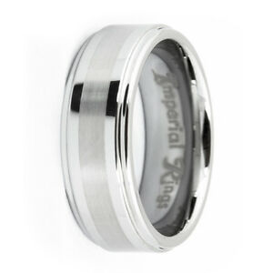 POLISHED-BRUSHED-TUNGSTEN-MEN-039-S-WEDDING-BAND-PROMISE-RING-SIZE-7-12-TUNGSTIN