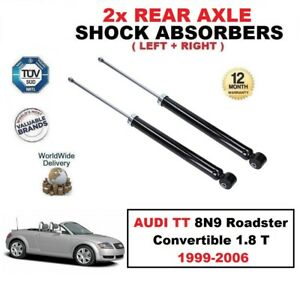 2x REAR SHOCK ABSORBERS SET for AUDI TT 8N9 Roadster Convertible 1.8 T 1999-2006