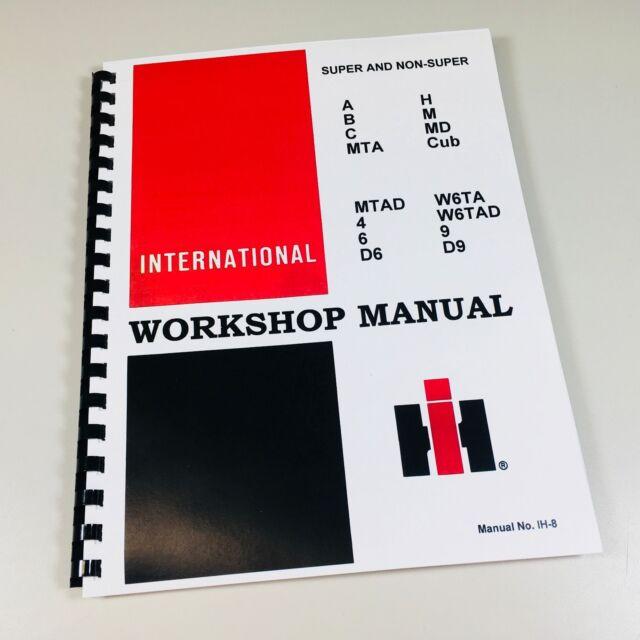 w4 super w4 international farmall tractor technical service shop repair  manual