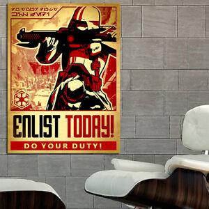 Star Wars Propaganda Movie Sci Fi Action Poster Wall Mural on Adhesive Vinyl ...