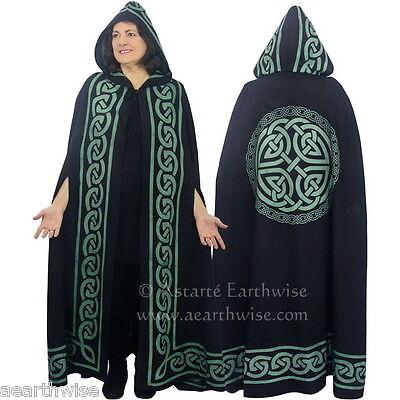 CELTIC KNOT CLOAK 100 % COTTON Wicca Witch Pagan Goth Ritual Cape Cloak