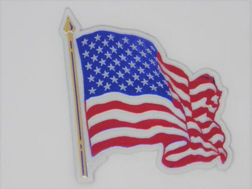 USA UNITED STATES OF AMERICA FLAG WAVEY 3D EFFECT FRIDGE MAGNET