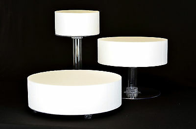 3 TIER CASCADE WEDDING CAKE STAND (STYLE R301)