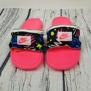 venta online precio inmejorable comprar popular Nike Benassi JDI Fanny Pack Slide Print Pink Blue Volt CJ2967-600 ...