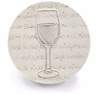 Red Wine Absorbent Drink Coasters Set Of 4 (light Beige) - Large 4.25 Size