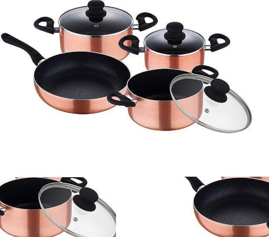 Pans Cookware 7 Piece Excite Pots Saucepan Set With Lids Lids Lids Induction 090518