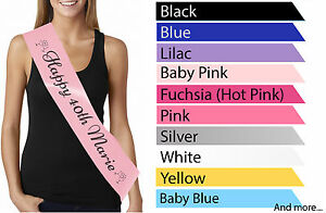Personalised 40th Birthday Sash Ribbon Night Out Party Decoration