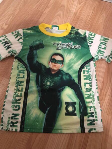 100% Vero Lanterna Verde T-shirt 9-10 Anni