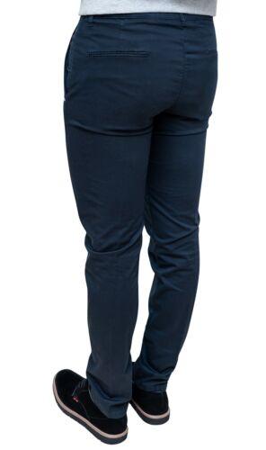 Foncé Elegant Sartorial Coton En Fabriqué 100 Homme en Italie Bleu Casual Pantalon TCpIw