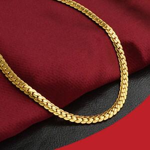 df8680e9ba61 Cadena para Hombre de Oro Chapado 18K joyería de lujo casual Eslabón ...