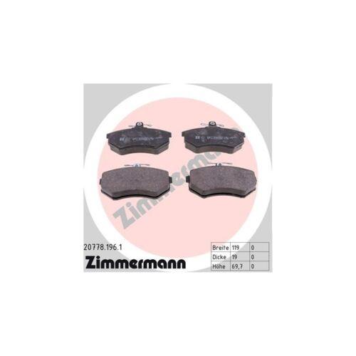 Zimmermann Bremsbeläge vorne Audi 80 90 100 A4 Coupe Quattro