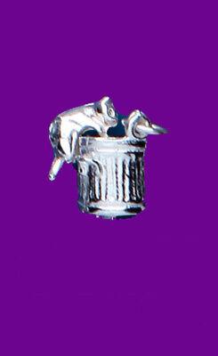 """Heb Een Onderzoekende Geest Cat In Dustbin Pendant Sterling Silver 925 Hallmark Pet Jewellery 14-30"""" Chain Tegen Elke Prijs"""