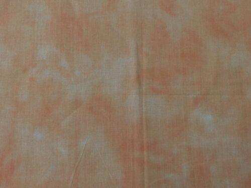 Peach Orange FQ Fat Quarter Fabric Basic Blended 100/% Cotton Quilting